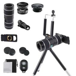 12X 10 in 1 Smartphone Camera Lens Top Travel Kit For Cell P