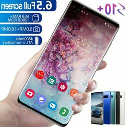 """6.5"""" S10 Smart Mobile Phone Dual SIM Face ID Unlocked Androi"""