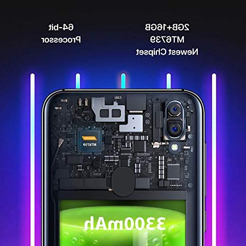 "UMIDIGI Mobile 5.5"" 16GB Android Slot, + Dual Fingerprint 3300mAh Smartphone"