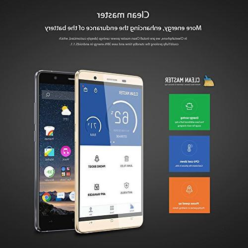"""CUBOT Android 6.0 OS Core 5.5"""" FHD Screen RAM ROM Cameras FingerPrint Rounder Display Wifi"""