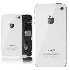 iPhone 4S Glass Back Cover Rear OEM White Full Assembly