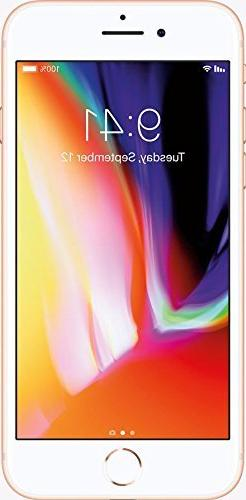 Apple iPhone 8, Fully Unlocked, 256GB - Gold
