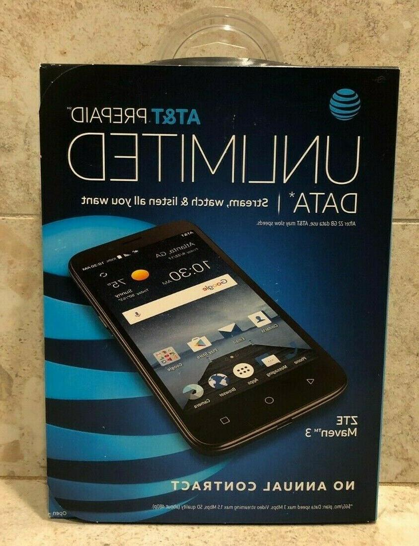 """New ZTE Maven 3 Z835 AT&T Unlocked 4G lte 8GB 5"""" 5MP Android"""