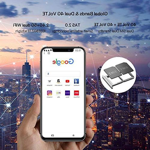 "UMIDIGI Mobile 5.9"" 32GB Cell Phone - Ram Dual-SIM 4G - Selfie,12MP Dual Battery,Side Fingerprint"
