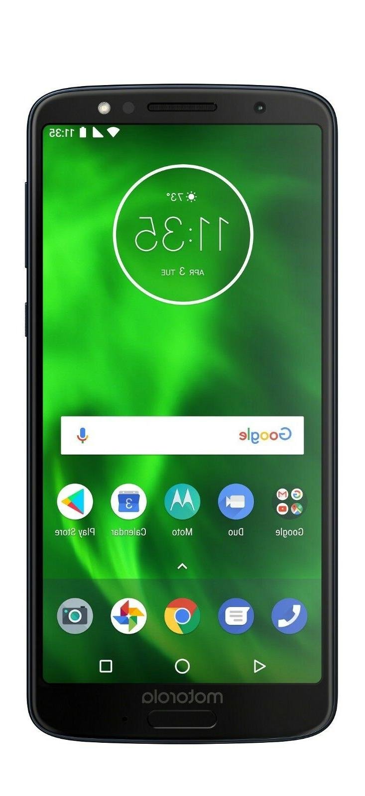Moto G6 – 64 GB – Unlocked  – Black -  - PAAE0009US