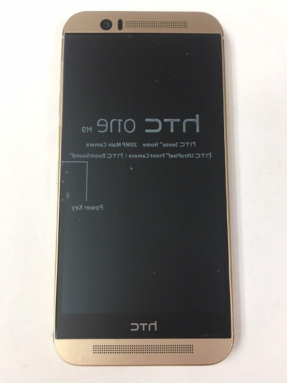 """New One M9 AT&T Unlocked GSM 4G LTE 32GB 5"""" Android Smartphone Gold"""