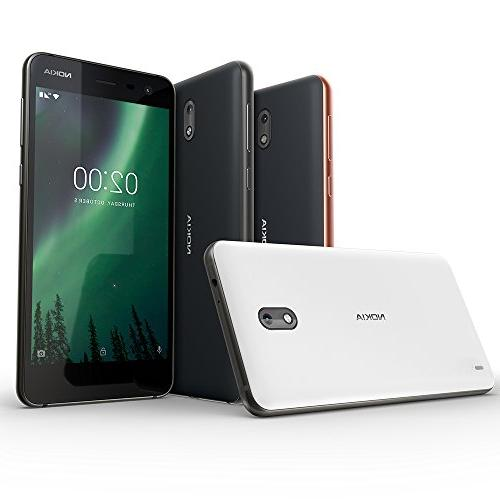 "Nokia - 8GB SIM Unlocked Smartphone 5"" Screen - Black -"