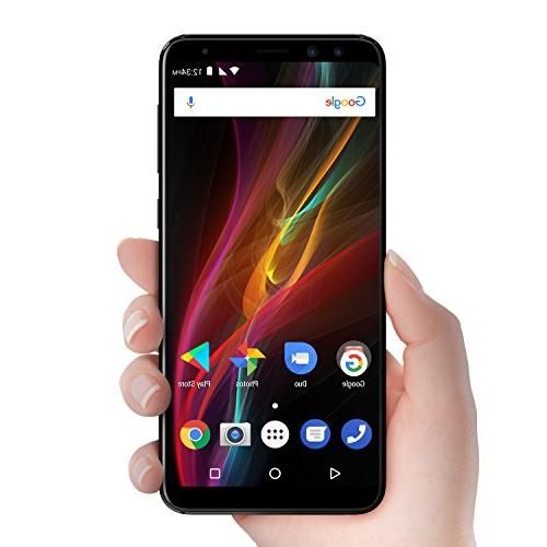 "BLU View -32GB +3GB RAM, 5.7"" 18:9 Display Smartphone with Dual Selfie -Black"