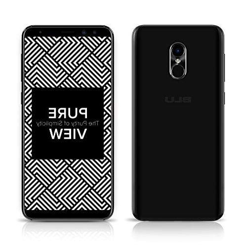 BLU +3GB RAM, HD+ 18:9 Smartphone with Dual Selfie -Black