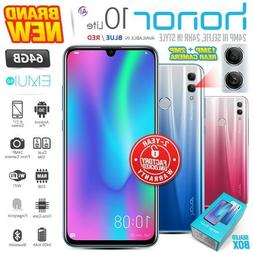 New & Sealed Factory Unlocked HONOR 10 Lite Blue Red 64GB An