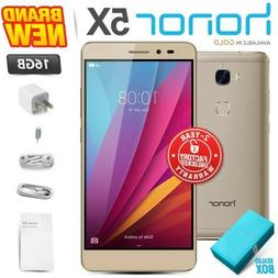 New & Sealed Factory Unlocked HONOR 5X Gold 16GB Dual SIM An