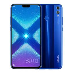 "New Huawei Honor 8X Blue 6.5"" 64GB Dual Sim 4G LTE Android 8"