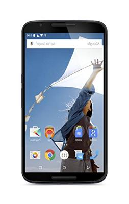 "Motorola Nexus 6 GSM Unlocked Smartphone, 64GB, 6"" Screen, D"
