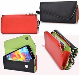 NuVur All in One Universal Wallet Clutch Smartphone Case Fit