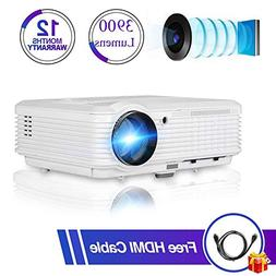 """200"""" Home Theater Projector 1080p 720p, Video Projector Full"""