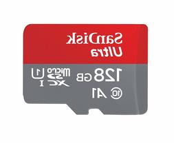 SanDisk Ultra 128GB microSDXC UHS-I card with Adapter -  10