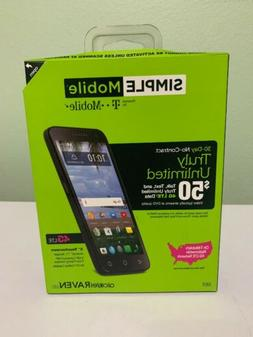 "Simple Mobile Alcatel Raven 4G LTE Prepaid Smartphone 5"" Tou"