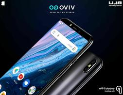 BLU V0390WW Black Vivo Go 6.0 HD+ Display Smartphone with An